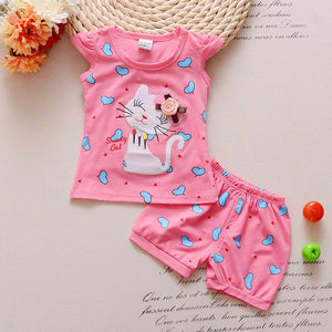 Kitten Baby Shorts Set