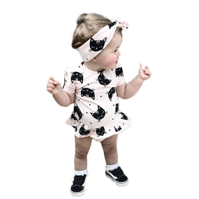 Kitten Head Romper Set