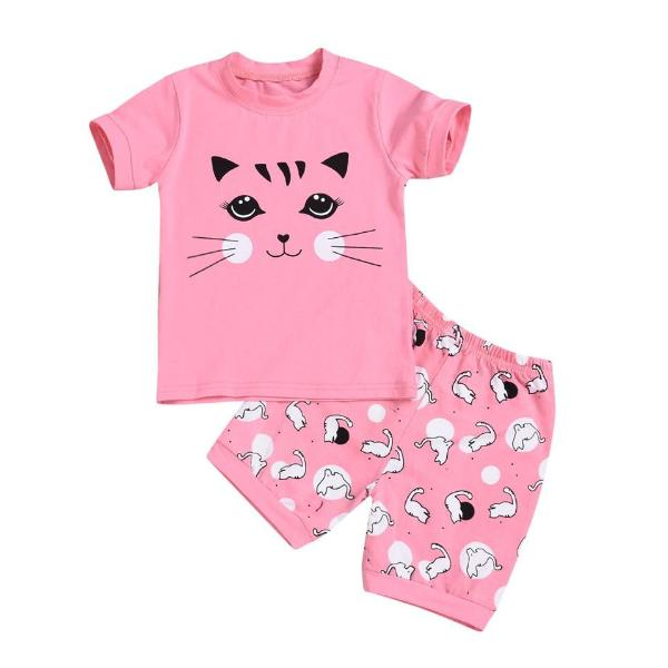 Casual Kitten Shorts Set - Meou & Moi