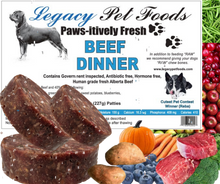 Load image into Gallery viewer, Beef Dinner 5 Lbs Bags