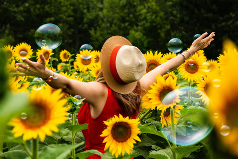 Sunflowers and Bubbles