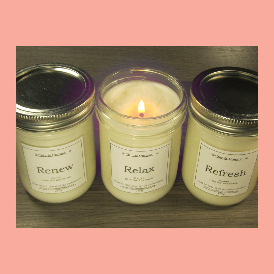 Soy Wax Candles Signature Scents