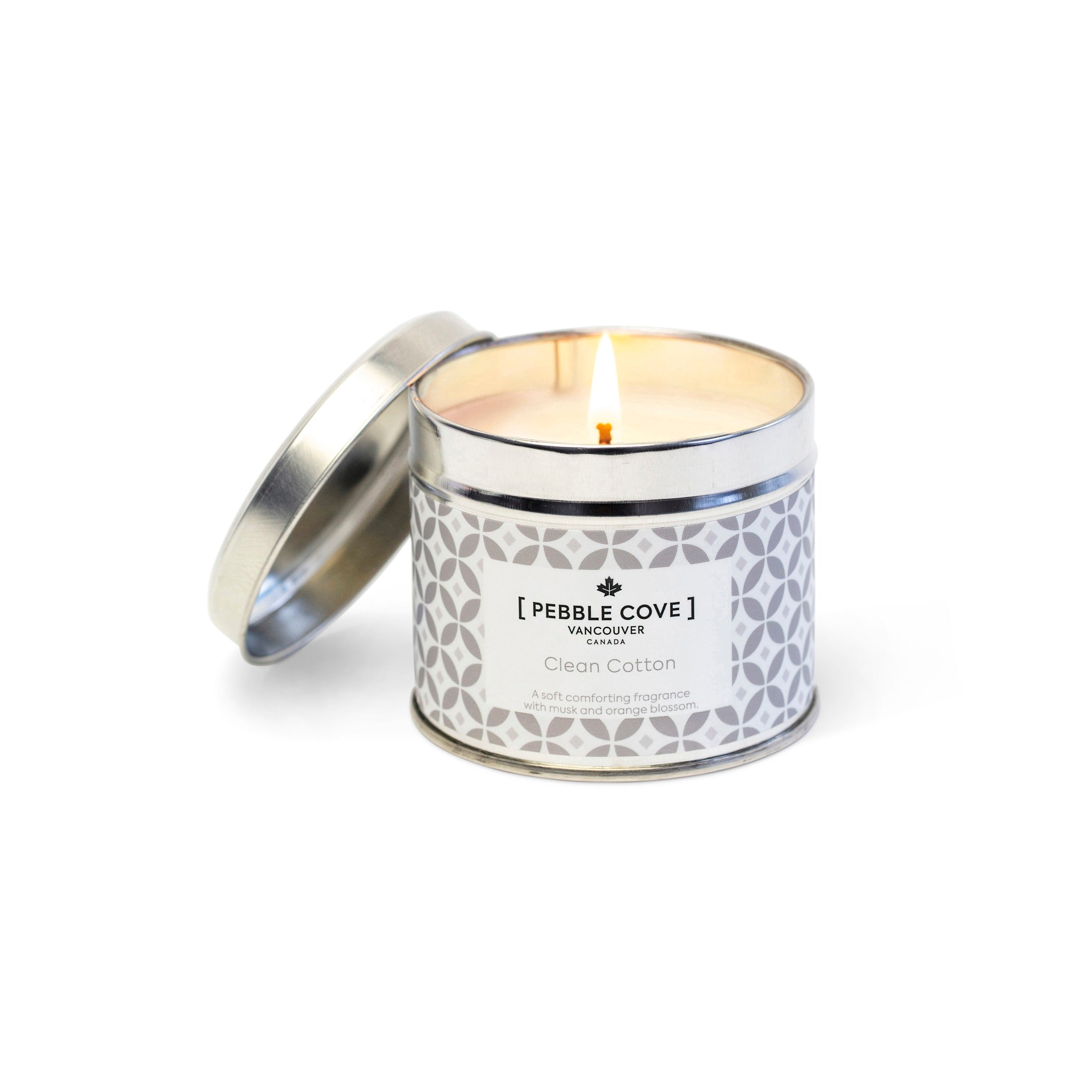 Clean Cotton - Large Tin Candle
