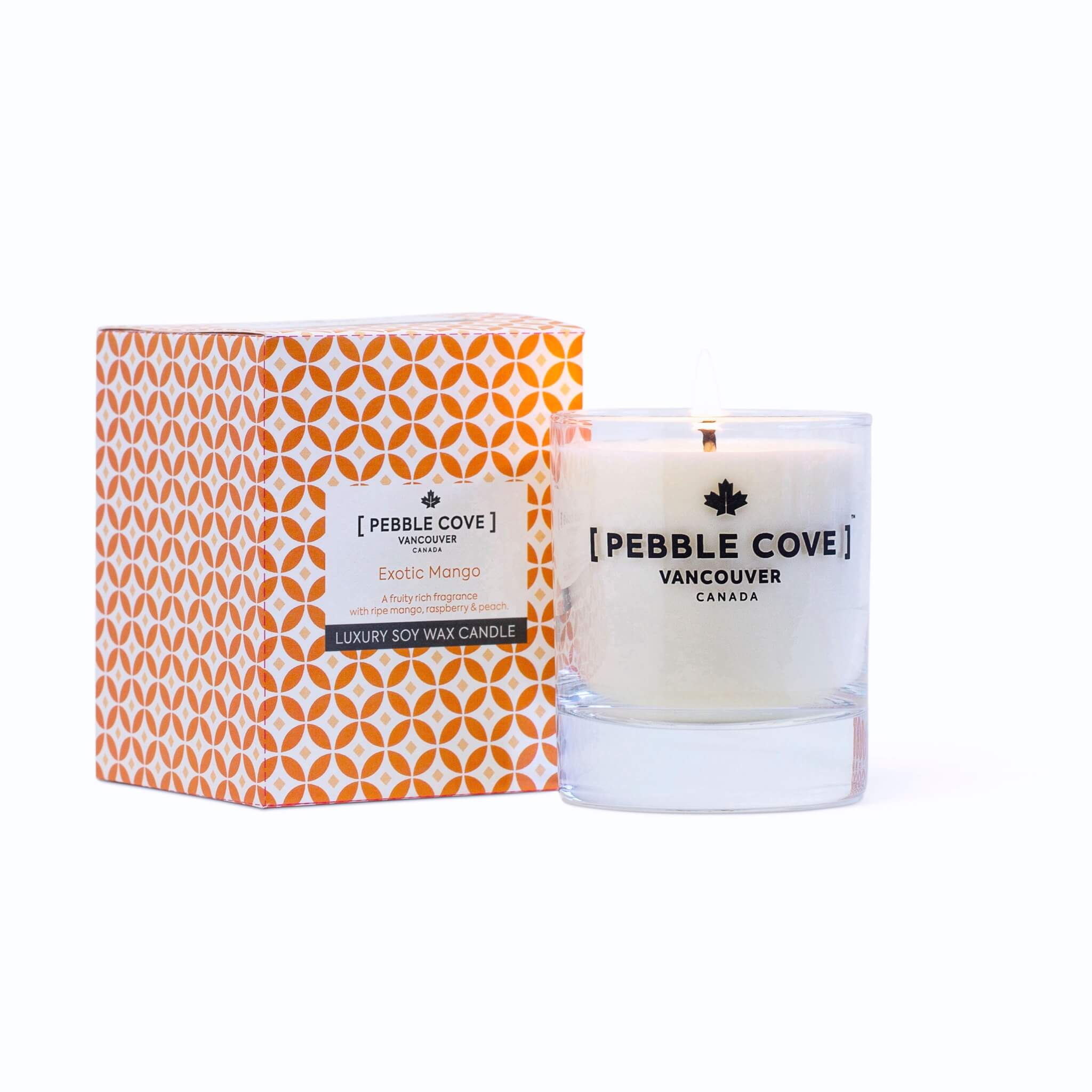 Exotic Mango - Large Glass Candle