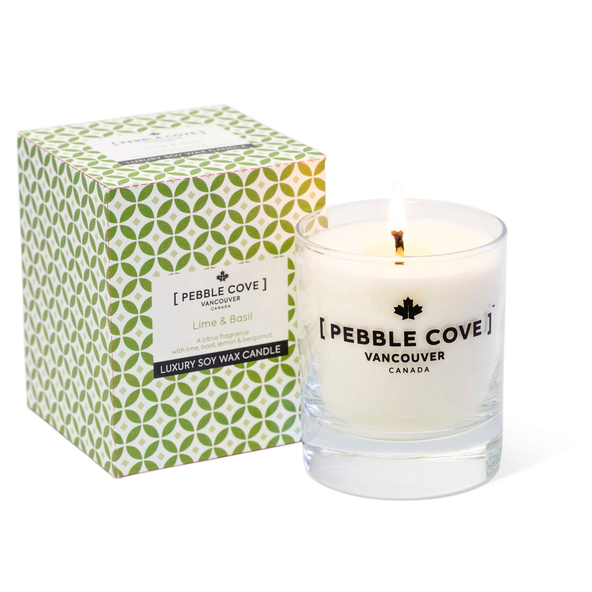 Lime & Basil - Large Glass Candle