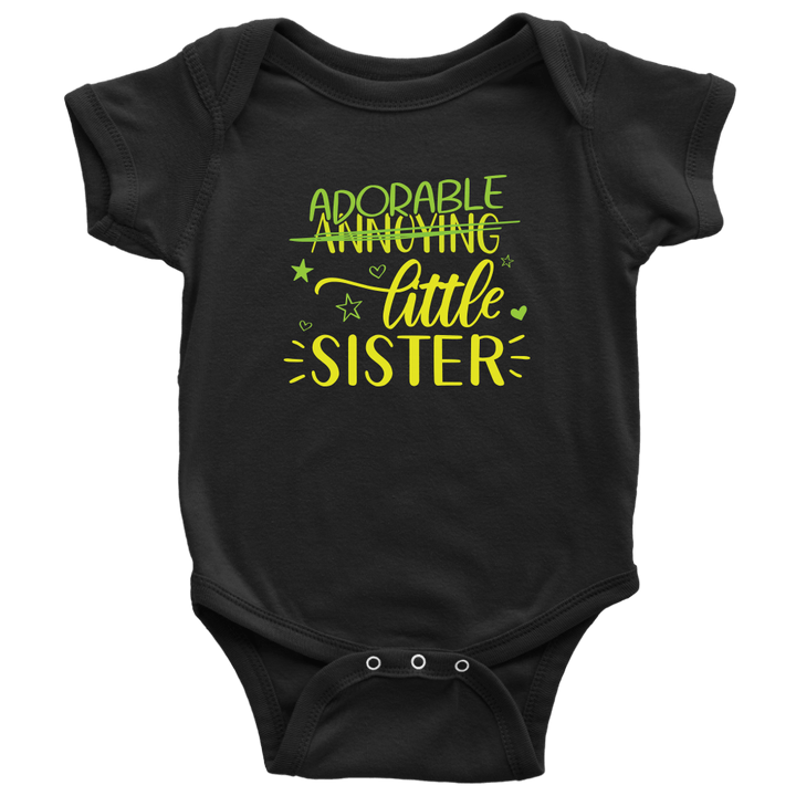 Baby | Adorable Sister Onesie T-shirt teelaunch Black NB