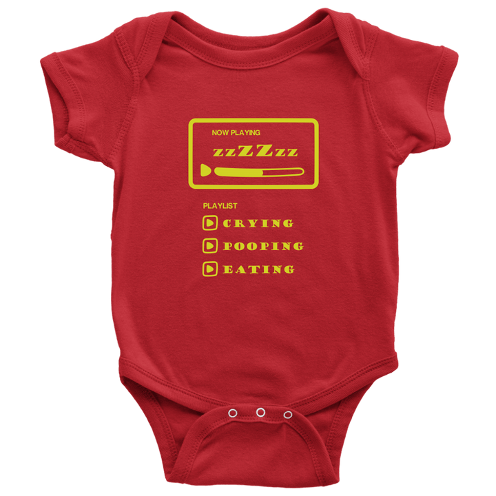 Baby | Playing List Zzzz Onesie T-shirt teelaunch Red NB