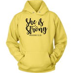 She Is Strong Hoodie