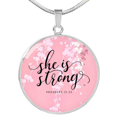 She is Strong Necklace