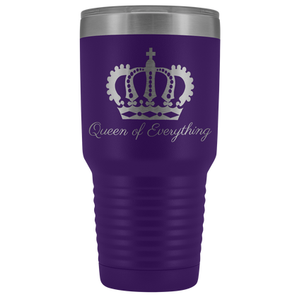 Purple laser etched 30 ounce Queen of Everything tumbler
