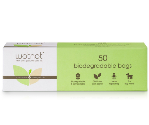 WOTNOT Biodegradable Nappy Bags (50 bags)