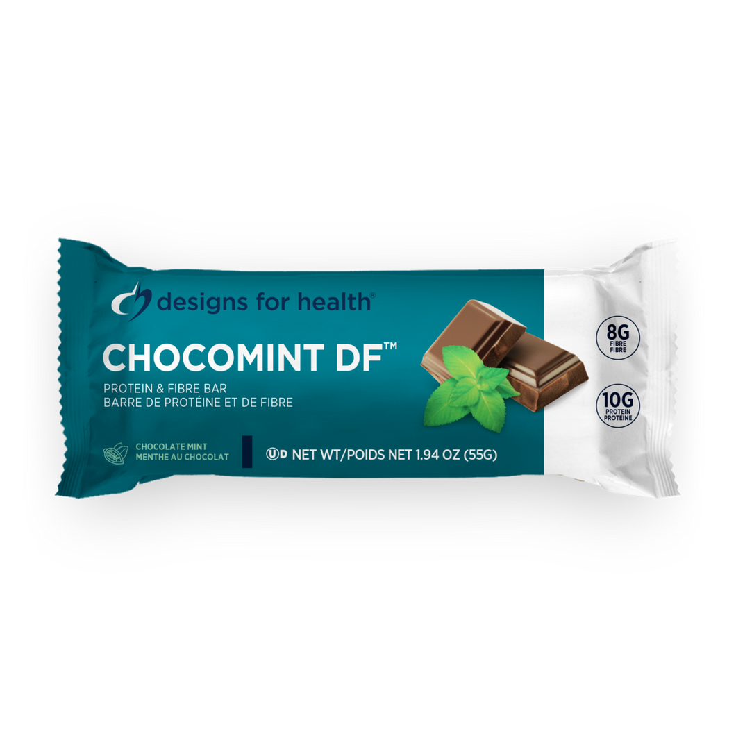 ChocoMint DF - Prebiotic, Dairy Free, Protein and Fibre Bar - 12 Bars