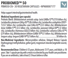 Load image into Gallery viewer, PROBIOMED™ 50 CFU PROBIOTIC 30 CAPSULES