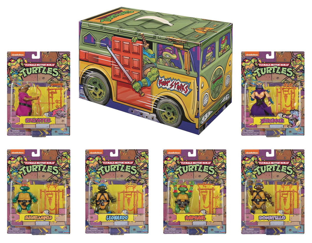 SDCC 2020 TMNT Retro Rotocast 6-PC. Action Figure Set Previews Exclusive