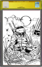 Load image into Gallery viewer, [PRE-ORDER] TMNT The Last Ronin #2 Mazz Comics Exclusive Black and White Ink Variant by Marcos Medina
