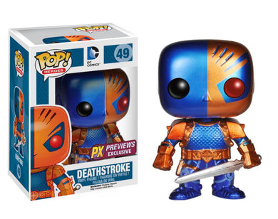 Funko Pop! Heroes: Deathstroke (Metallic) PX Exclusive