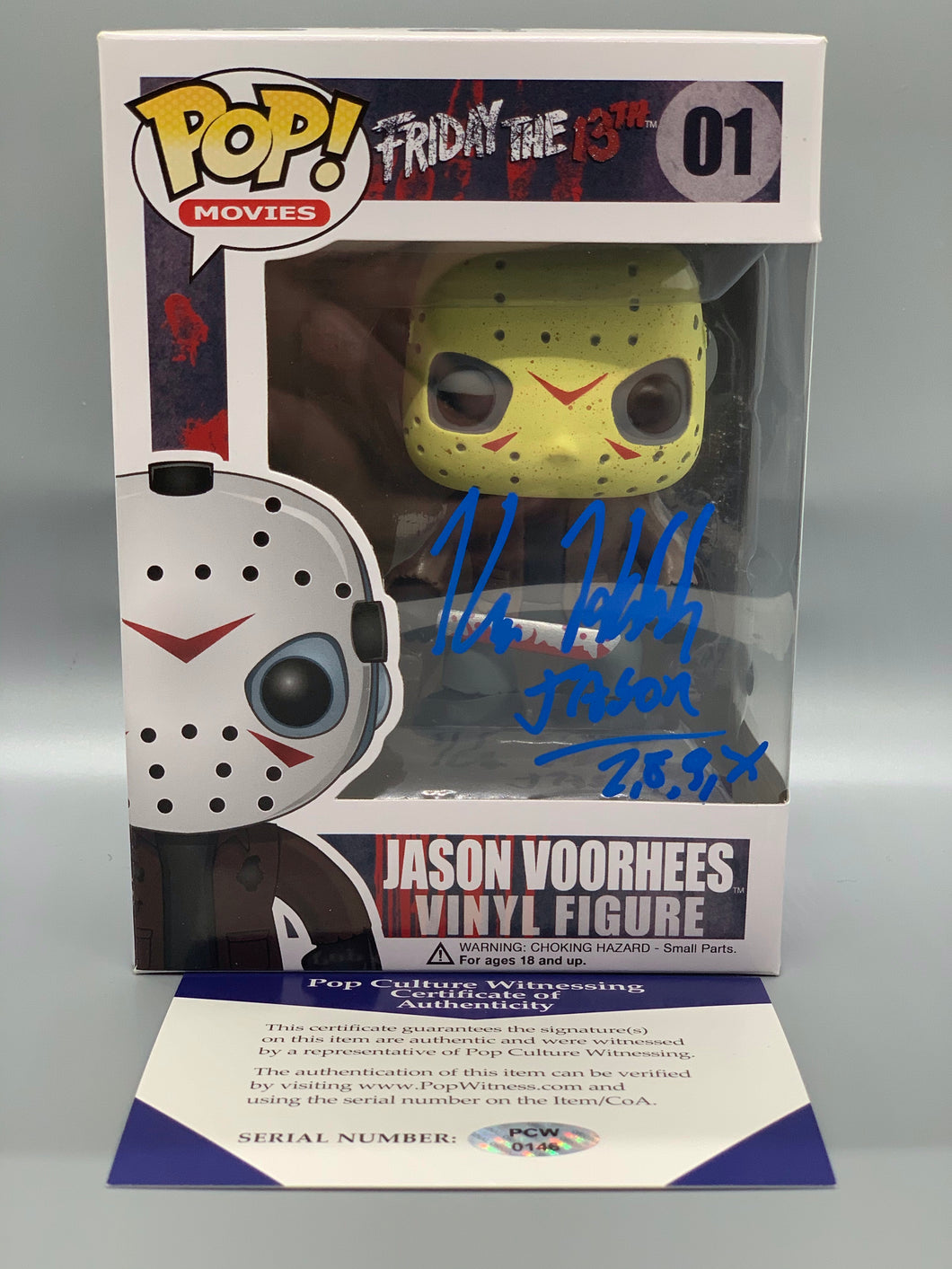 Autographed Jason Voorhees Pop with CoA