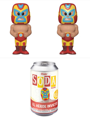 [PRE-ORDERS] Funko Pop! Vinyl Soda: Luchadores - Iron Man w/ chance of Chase