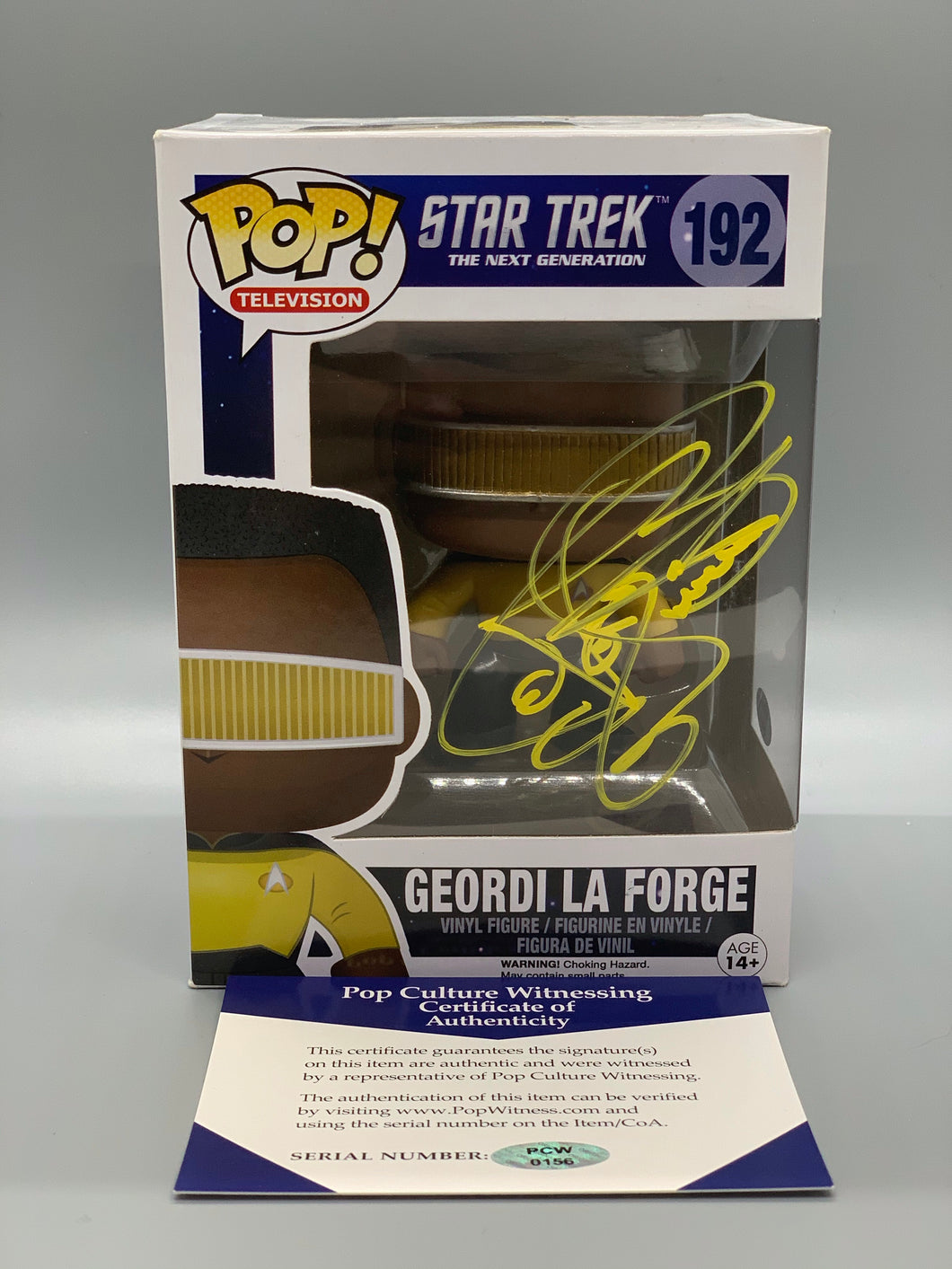 Autographed Geordi LaForge Pop with CoA