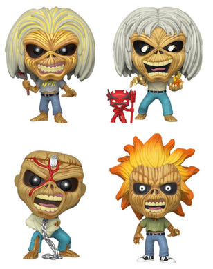 Funko Pop! Rocks: Iron Maiden (Set of 4)
