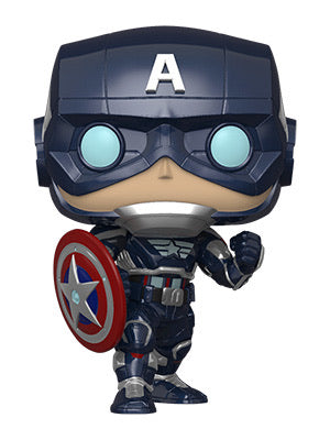 Funko Pop! Marvel: Avengers Game - Capt America (Stark Tech Suit)