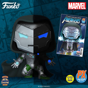 Funko Pop! Marvel - Infamous Iron-man GitD PX Exclusive with Comic