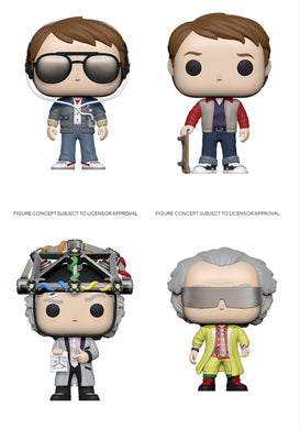 Funko Pop! Movies: Back to the Future - (Set of 7)