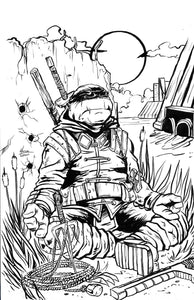 [PRE-ORDER] TMNT The Last Ronin #2 Mazz Comics Exclusive Black and White Ink Variant by Marcos Medina