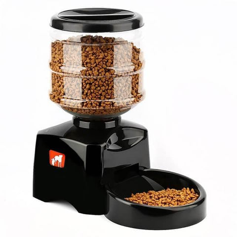Automatic Pet Feeder with Voice Recording and LCD Screen