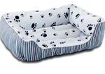 Comfortable Paw Print Dog Bed - 3 Colors