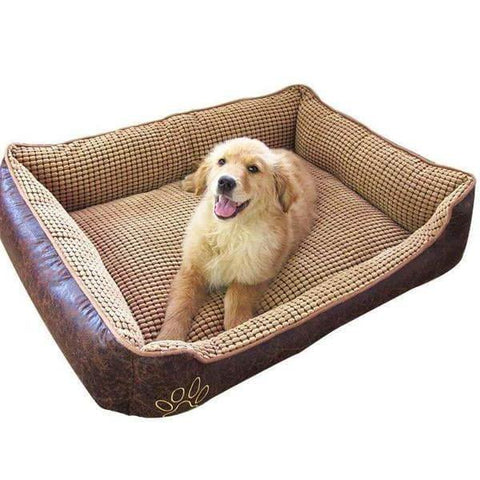 Luxurious Leather Dog Bed - For Small/Medium Dogs