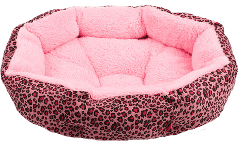 Leopard Print Bed - For Small Dogs - 6 Styles