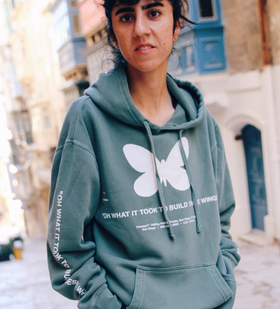 Oh What It Took To Make These Wings Butterfly hoodie by Thoraya Maronesy