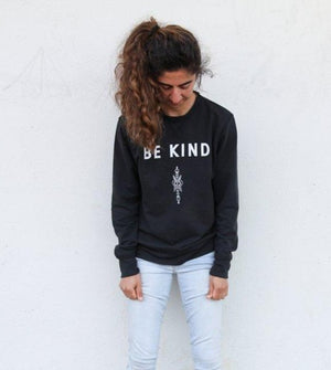 Be Kind Crewneck Sweatshirt by Thoraya Maronesy