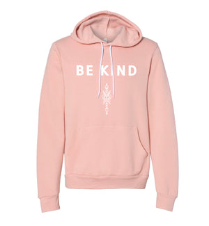 Dusty Pink Be Kind Hoodie