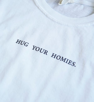 Load image into Gallery viewer, Hug Your Homies Small Print Shirt