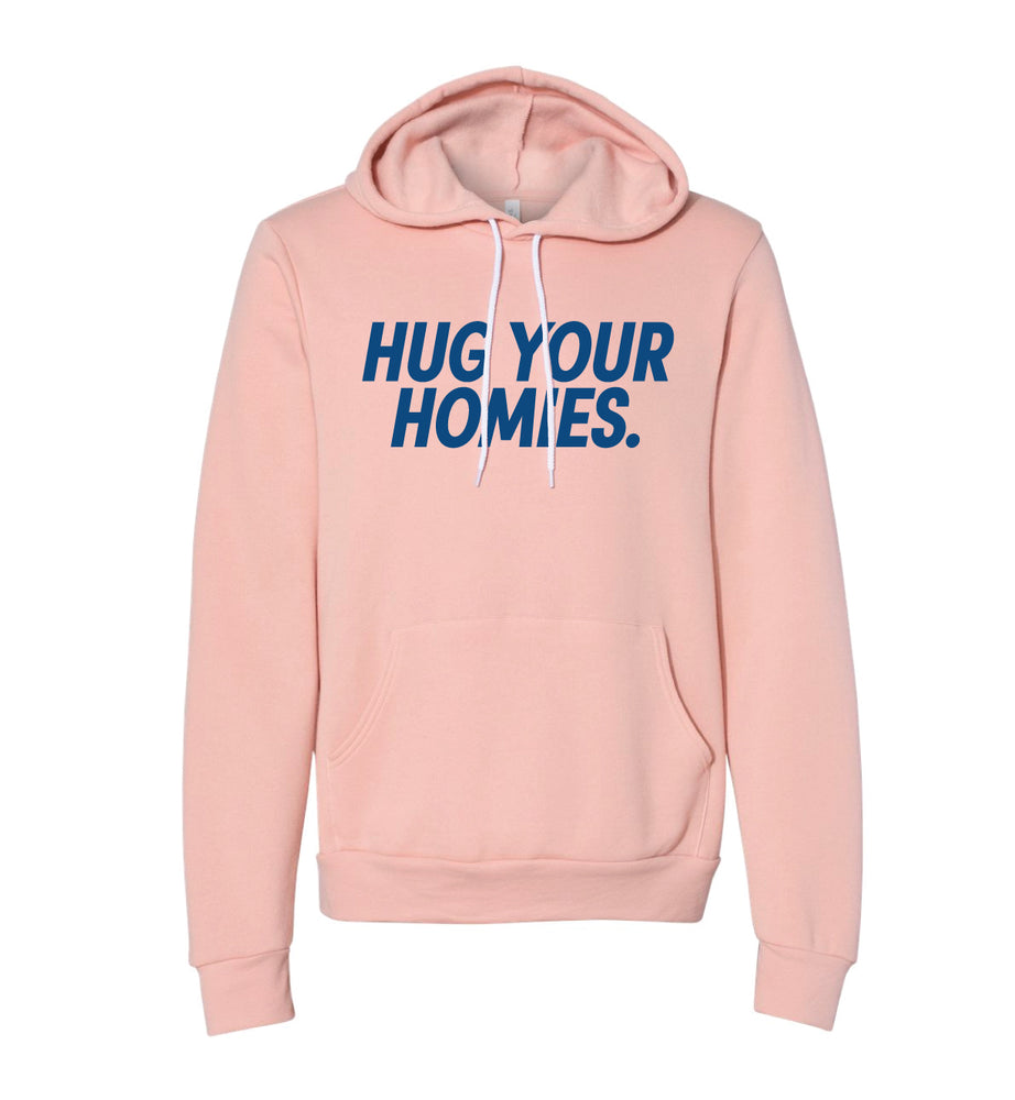 Load image into Gallery viewer, Hug Your Homies Peach Hoodie