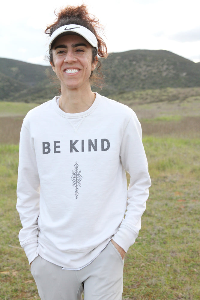 Be Kind Sweater (white)