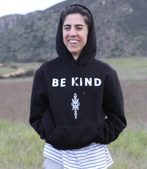 Be Kind Hoodie by Thoraya Maronesy