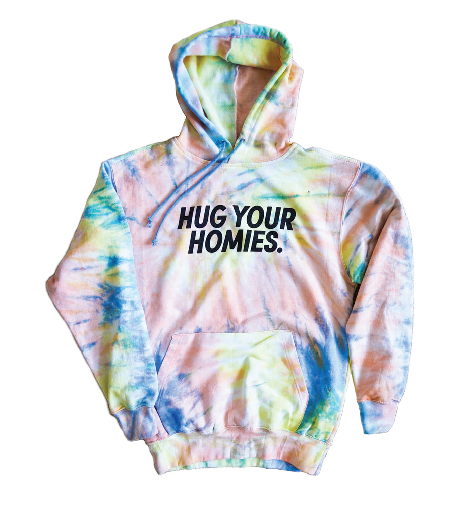 Load image into Gallery viewer, Hug Your Homies Tie Dye Hoodie