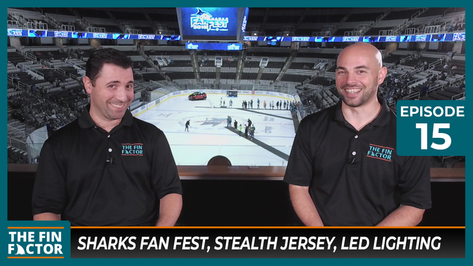 Episode 15 at Sharks Fan Fest: Stealth Jersey, LED Lighting