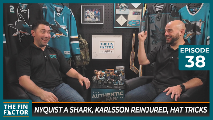 Episode 38: Nyquist a Shark, Karlsson Reinjured, Hat Tricks