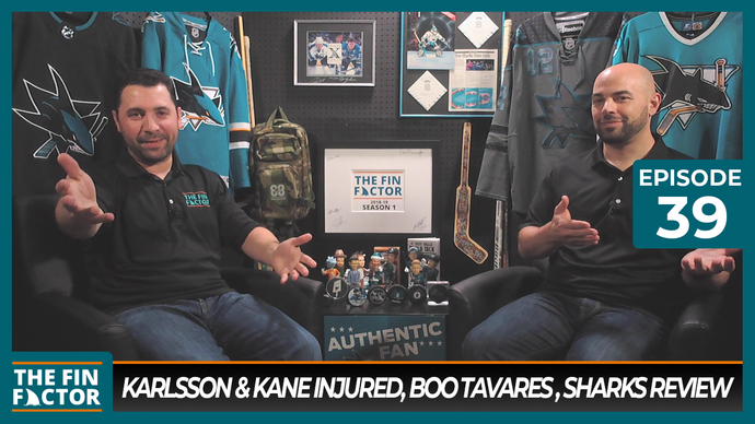 Episode 39: Karlsson & Kane Injured, Boo Tavares, Sharks Review