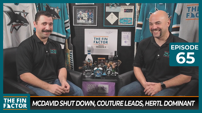 Episode 65: McDavid Shut Down, Couture Leads, Hertl Dominant