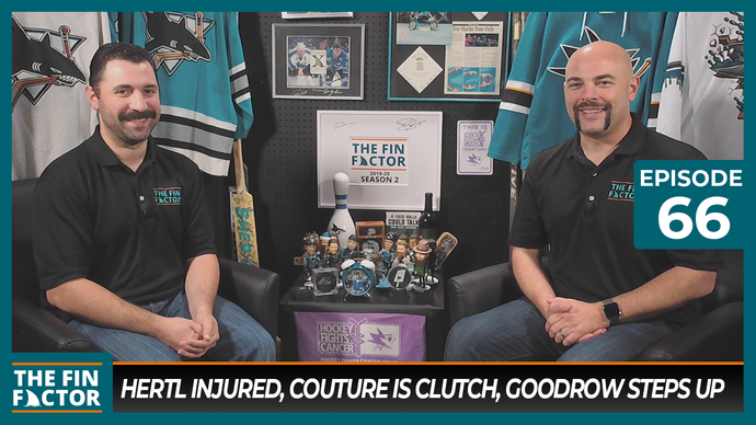 Episode 66: Hertl Injured, Couture is Clutch, Goodrow Steps Up