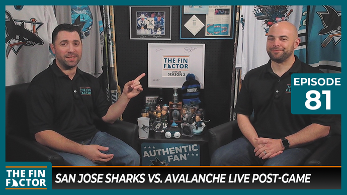 Episode 81: San Jose Sharks vs. Colorado Avalanche Live Post-Game