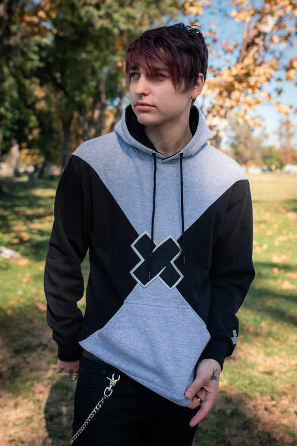 XPLR: Geometric Color Block X Hoodie