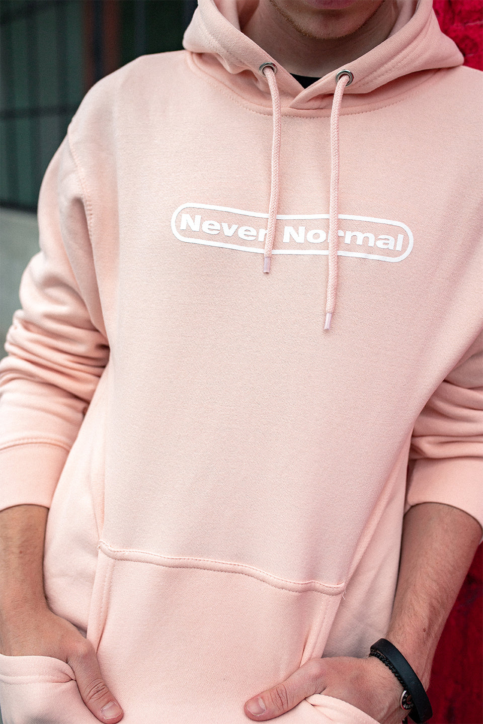 Sam Golbach: Never Normal Signature Pink Hoodie