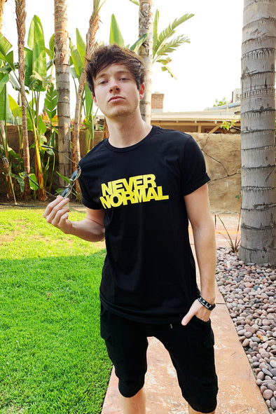 Sam Golbach Black Never Normal Tee