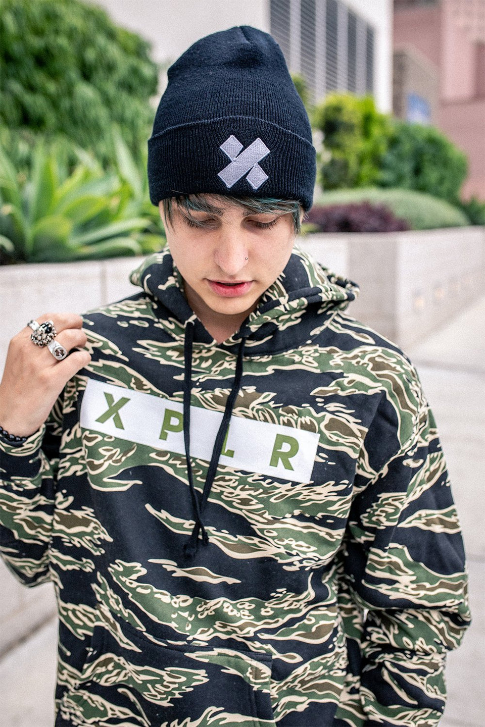 X P L R: LIMITED EDITION TIGER CAMO HOODIE